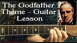 Guitar Lesson - The GODFATHER THEME -  Easy ( Acoustic )