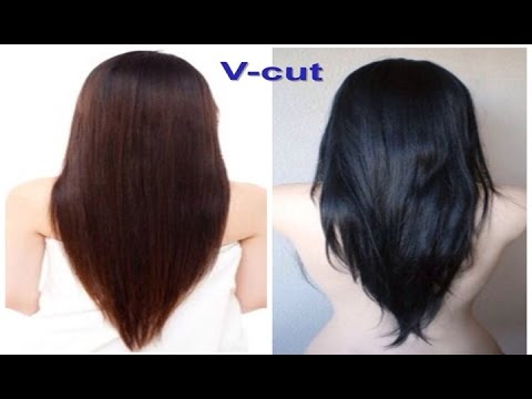 V Cut Beautiful Hairstyle For Women Youtube
