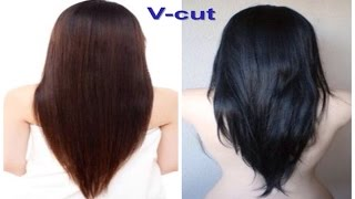 V-cut Beautiful Hairstyle for Women
