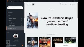 How to Restore Origin Game, without re-downloading [Indo sub]