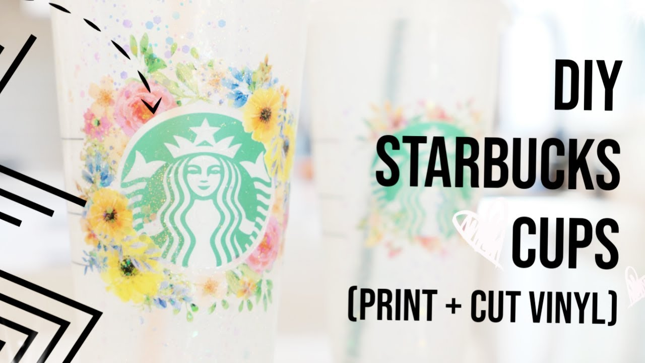 Diy Printable Vinyl Starbucks Tumblers Youtube