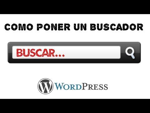 Como poner un buscador en una entrada o pagina de Wordpress - Tutorial paso a paso