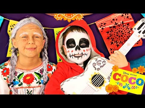 Disney Pixar Coco Miguel and Grandma Coco Makeup and Costumes