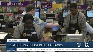 Food stamps boost
