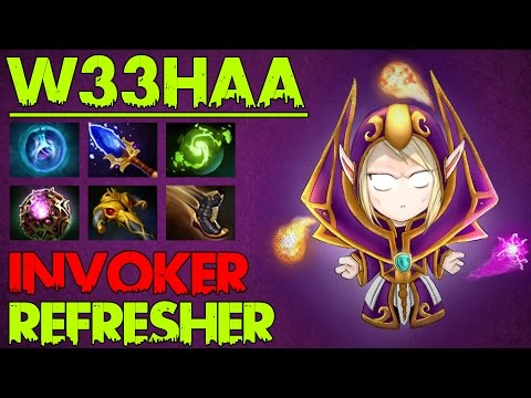 W33Haa - Dota 2 Highlights - Patch 6.88 - Best Invoker Player In The World with Refresher