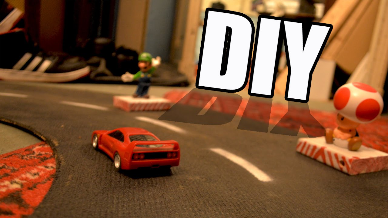 how to make spinning track for toy cars youtube
