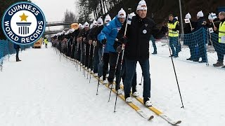 Most people on a single pair of skis - Guinness World Records