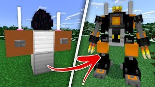 How to Get the WITHERBUSTER MECH SUIT in Minecraft! (Minecraft PE W10 Addon)
