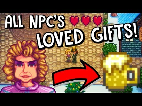 What Are The Villagers Most Loved Gifts? *HEART GUIDE!* - Stardew Valley!