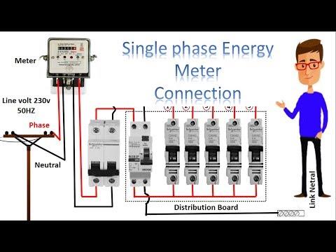 single phase meter wiring diagram | energy meter | energy meter connection by earthbondhon