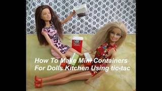DIY/ HOW TO MAKE MINI KITCHEN CONTAINERS USING tic-tac CONTAINER