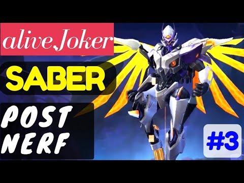 Post Nerf [Rank 1 Saber] | Saber Gameplay and Build By alive.Joker #3 Mobile Legends