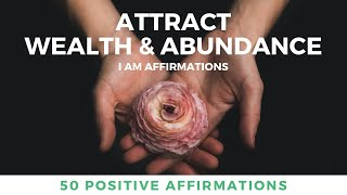 Attract Wealth & Abundance 10 Minutes A Day   Positive Affirmations   Money Luck & Prosperity
