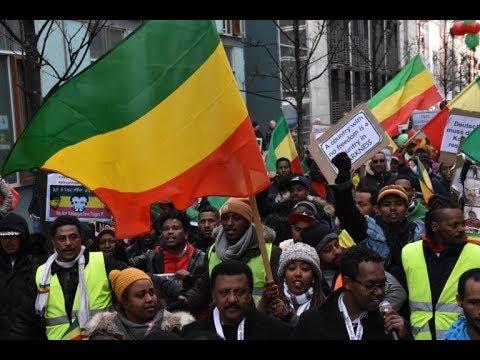 Huge Ethiopian's Demonstration in Berlin. Abbaymedia.info ደማቁ የኢትዮጵያውያን የተቃውሞ ማዕበል በበርሊን
