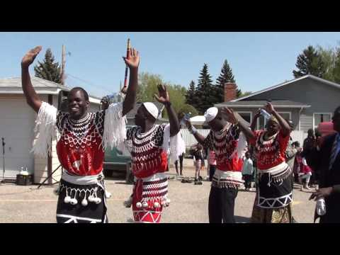South Sudanese Aweil culture dance during the S.T James celebration day 2.