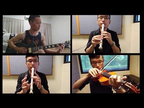 [東方 Touhou] Bad Apple - Collaborative Cover (Guitar, Recorder, Violin)