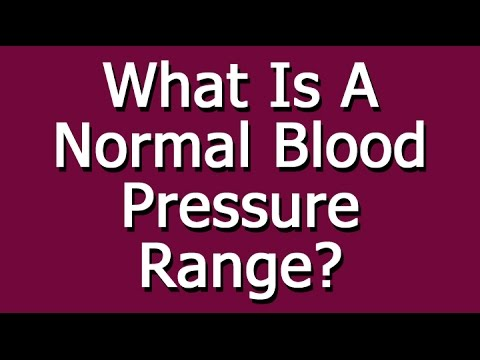 What Is A Normal Blood Pressure Range Youtube