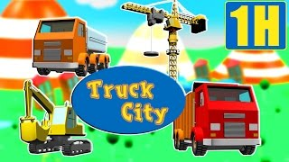 Tractopelle, camion benne, grue, train: Truck City compilation des camions de construction