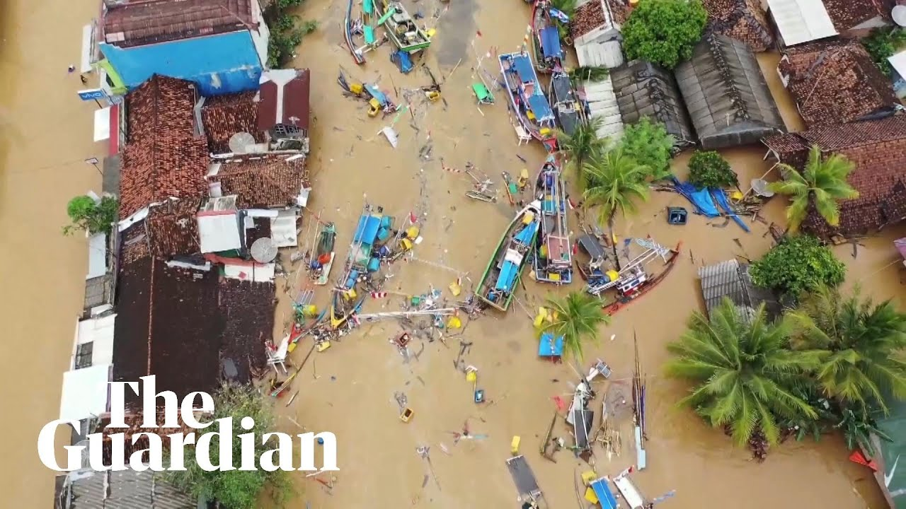 Aerial footage reveals devastation after deadly Indonesian tsunami