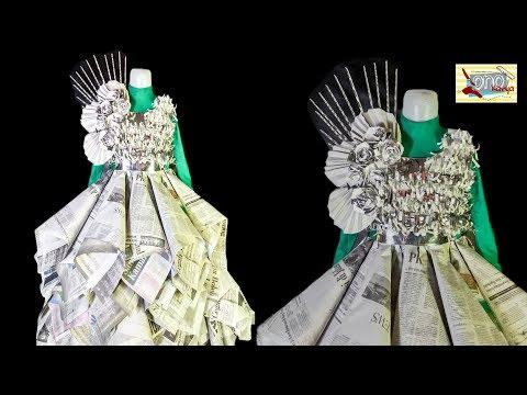 cara membuat costum dari plastik kresek bentuk rok tutu | lomba karnaval agustus.