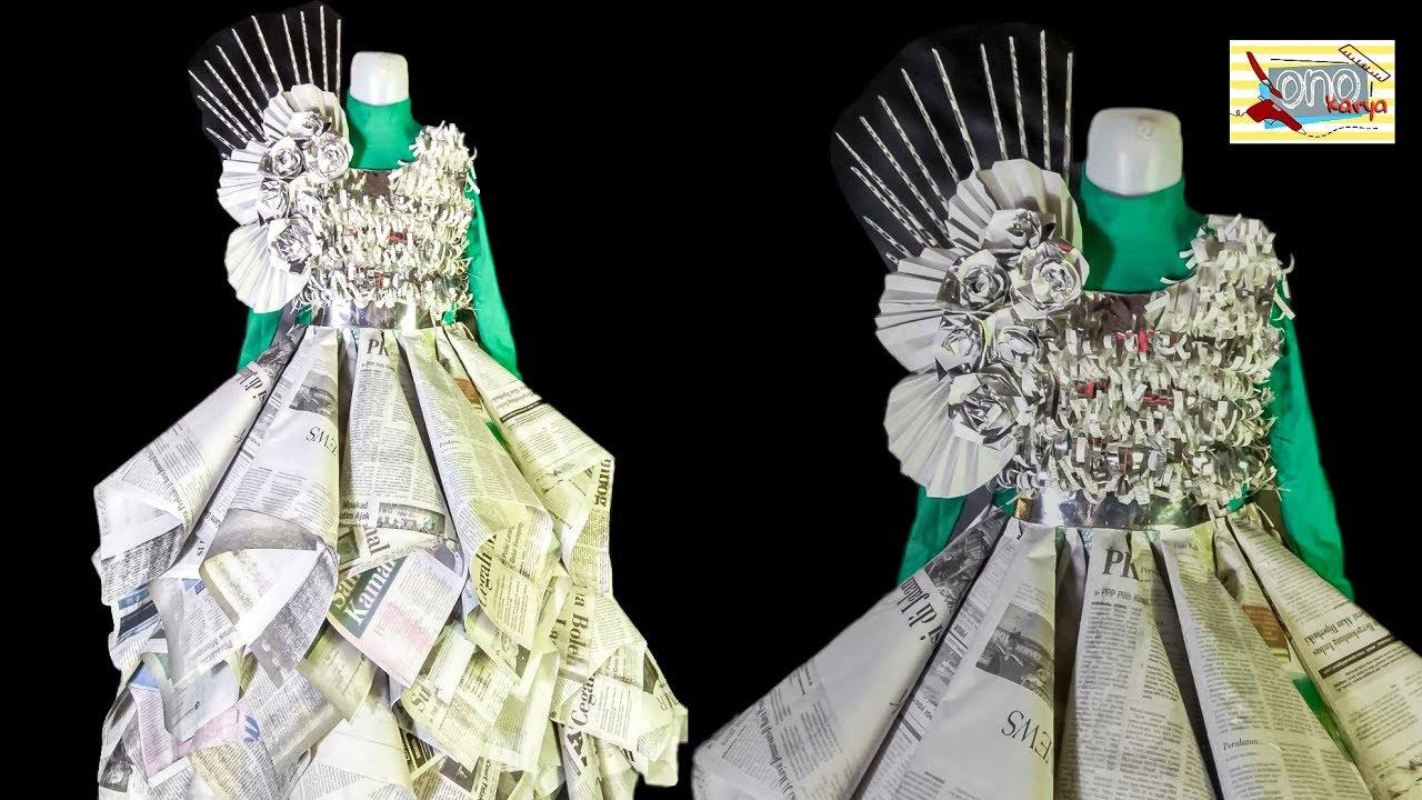 Cara Membuat Baju Costum Dari Koran Bekas
