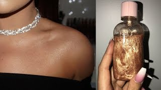 TESTING DIY: Fenty Body Lava Dupe! Baby Oil & Highlighter!