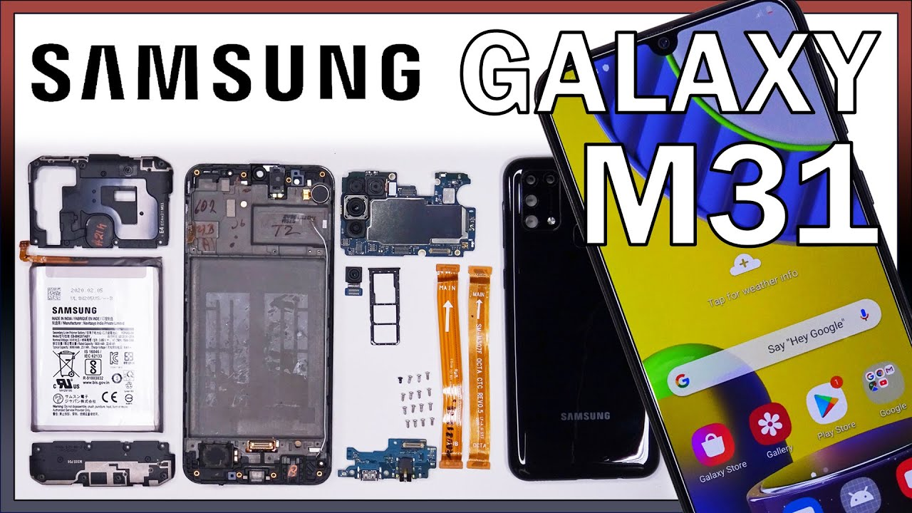 Samsung Galaxy M31 Disassembly Teardown Repair Video Review