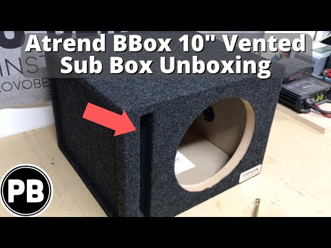 BBox 10 Vented Subwoofer Box Unboxing  E10SV