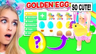 GOLDEN EGGS DECIDE What EGGS WE OPEN In Adopt Me! (Roblox)