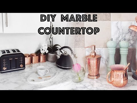DIY Marble Kitchen Worktop Makeover | LLimWalker