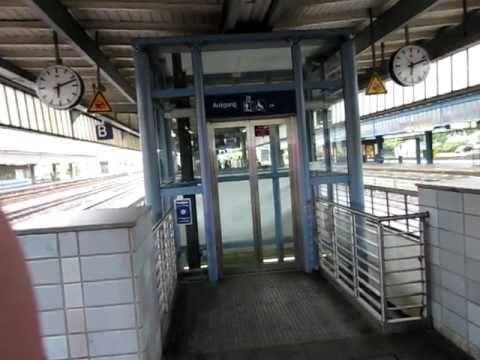 Kone hydraulic glass elevator at Oberhausen central station - OldElevNew