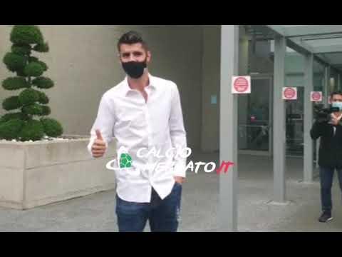 CM.IT - Alvaro Morata arriva al J-Medical per le visite mediche con la Juventus!