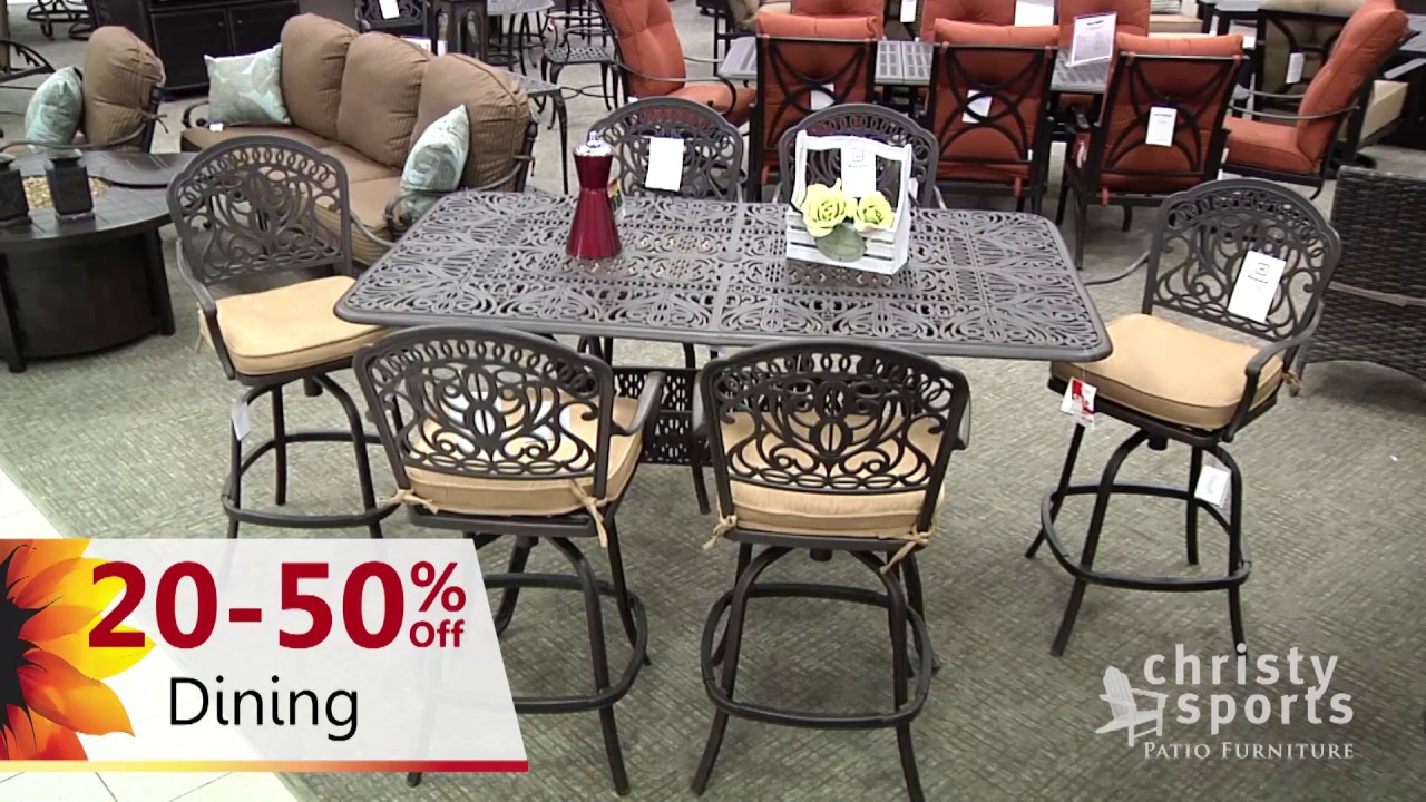 christy sports patio days - 3 week patio furniture sale event - 30sec