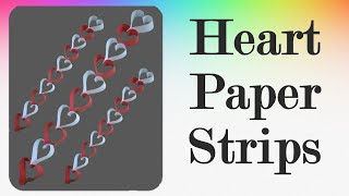Heart Paper Strips - Easy Diwali Decoration Ideas
