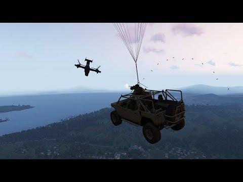 Arma 3 Editor - How to unload vehicles from the blackfish or other planes