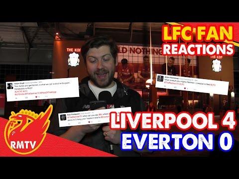 Liverpool 4-0 Everton| LFC Fan Reactions