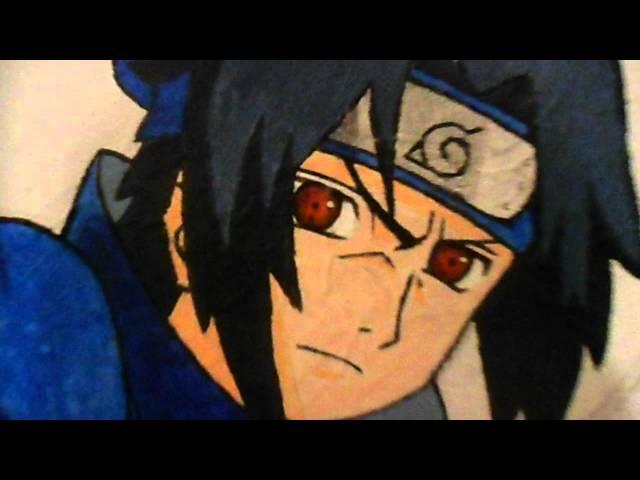 Mi dibujo en la pared! (sasuke)   taringa!