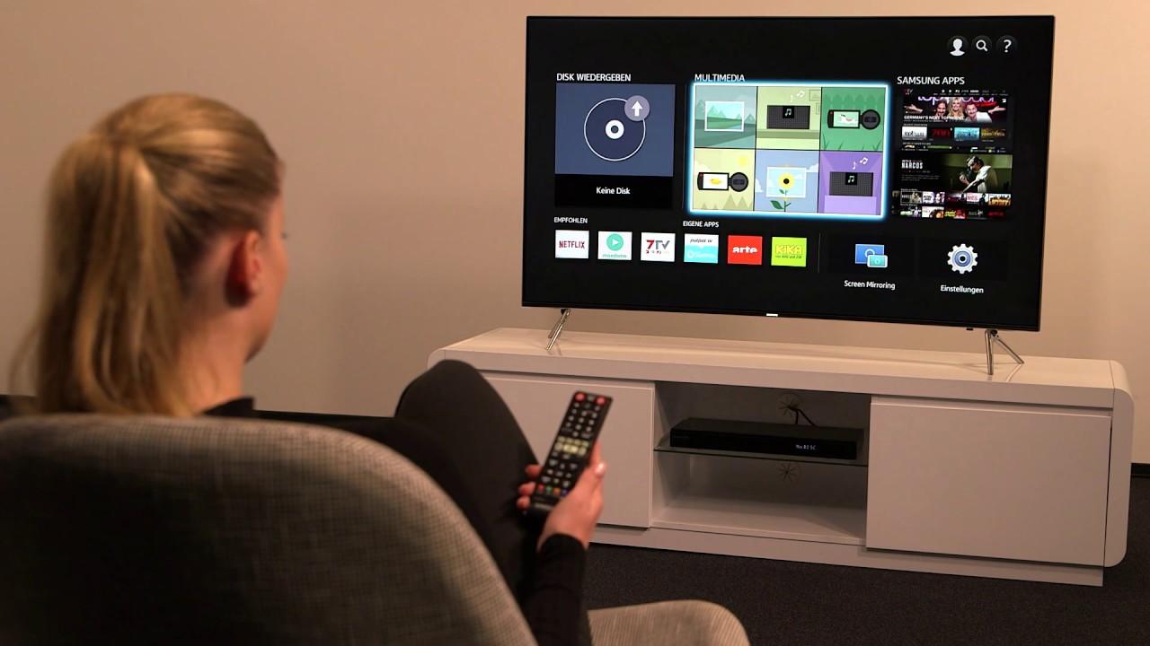 Samsung Blu-ray Player: Ersteinrichtung