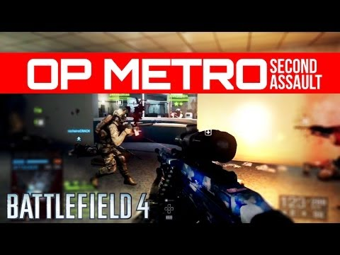 Battlefield 4 Operation Metro 2014 Rush RAW Gameplay - Second Assault DLC