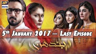 vuclip Bandhan - Last Episode - 5th January 2017 - ARY Digital Drama