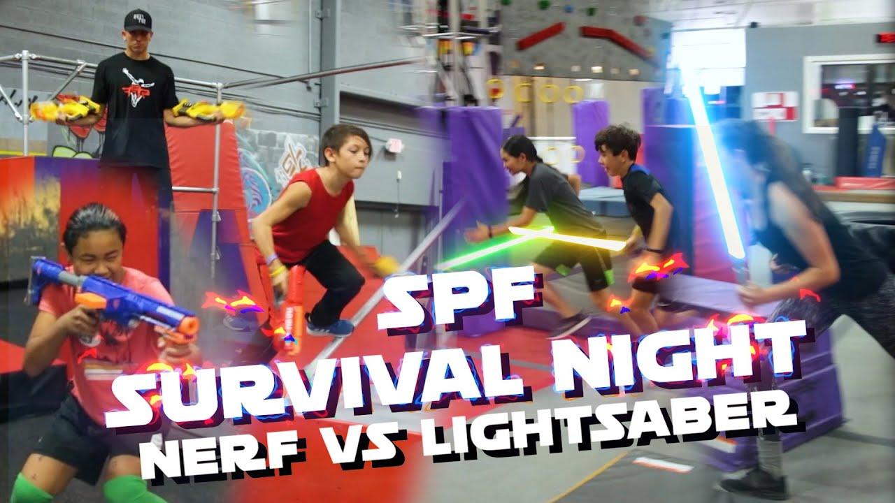 SPF Survival Night: Nerf vs Lightsaber