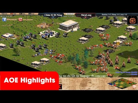 I've heard the AoE1 scene is popular in Vietnam, check out the precision in  this game. : aoe2