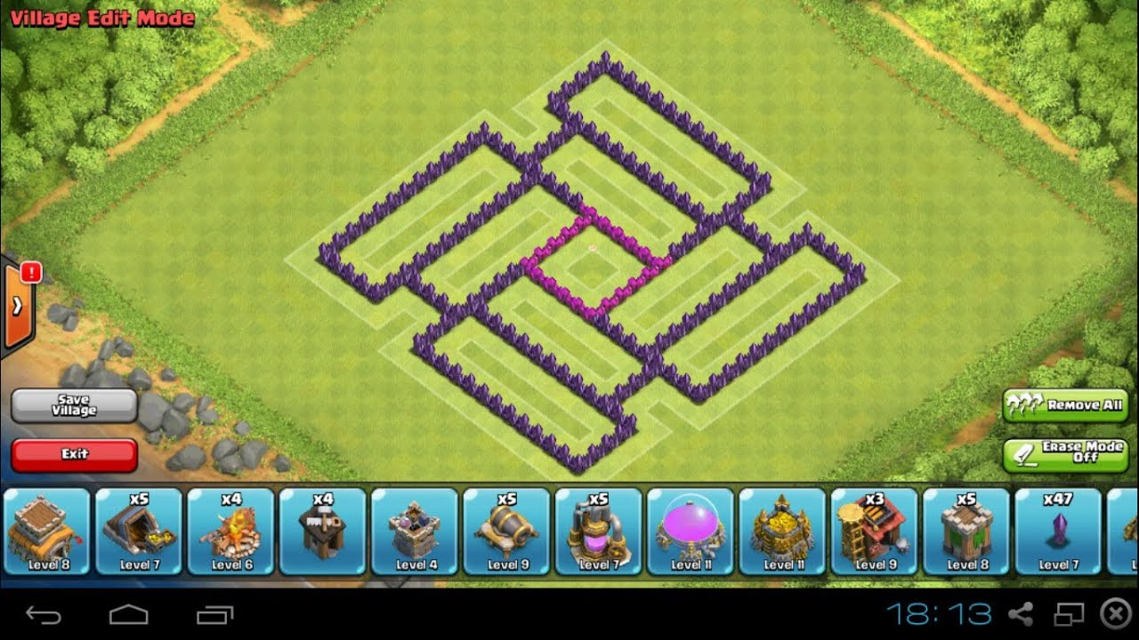 Clash Of Clans Th7 Defense Base  Hybrid Base