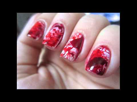 Decoraciones de u as con esmalte de zombie youtube for Decoracion de unas con esmalte