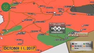 12 октября 2017. Военная обстановка в Сирии. 40 проамериканских боевиков сдались сирийской армии.