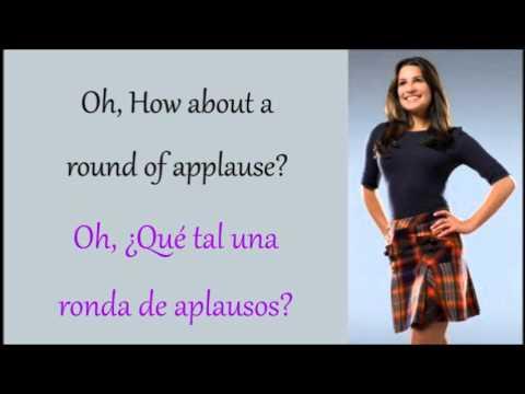Glee: Take A Bow (Lyrics + Español)
