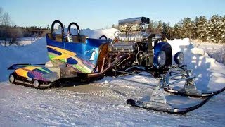 Хот-род на гусеницах   Hot Rod  snowmobile
