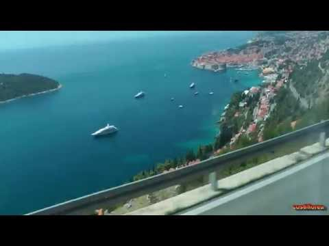 Kotor,Montenegro to Dubrovnik,Croatia by bus - Travel video HD
