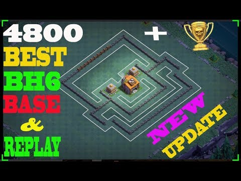 Best Builder Hall 6 Base Design | clash of clans bh6 base layout | coc update 2017