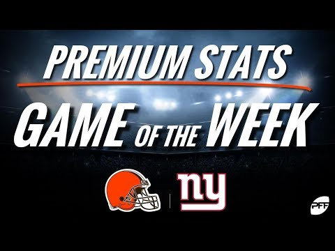 Pro Football Focus Premium Stats game of the week: Browns vs. Giants | PFF